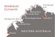 Kimberley Ultimate 13 day cruise itinerary map