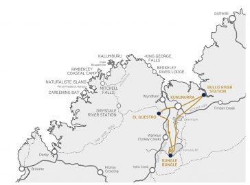 Luxury Kimberley Safari Map