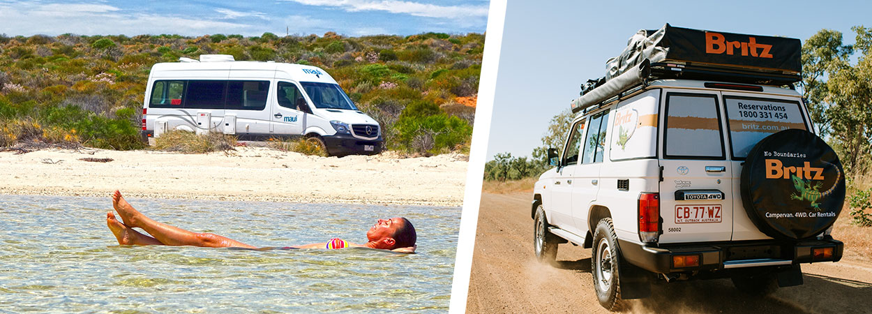 Kimberley campervan hire Maui and Britz