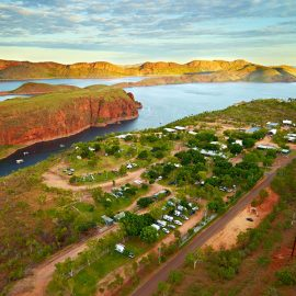 Lake Argyle Resort aerial resort view