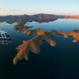 Over stunning Lake Argyle